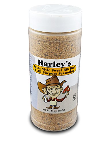 (Harley's Sweet Rib Rub Texas Seasoning | All Purpose Sweet BBQ Seasoning Perfect for Seasoning Everything From Meat to Seafood.)