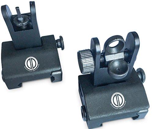 Dagger-Defense-tactical-flip-up-BUIS-picatinny-rail-mounted-backup-iron-sights