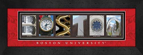 Prints Charming Letter Art Framed Print, Boston University-Boston, Bold Color Border