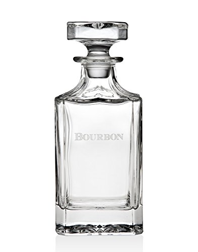 - Godinger Silver Art Clarion Engraved Non-leaded Crystal Square Bourbon Whiskey Decanter With Glass Stopper