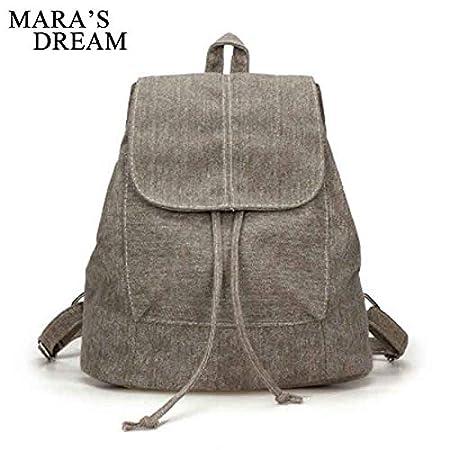 Amazon.com: Maras Dream Soft Canvas Women Backpack Drawstring School Bags Female Backpacks for Teenage Girls Mochilas Escolares: Kitchen & Dining