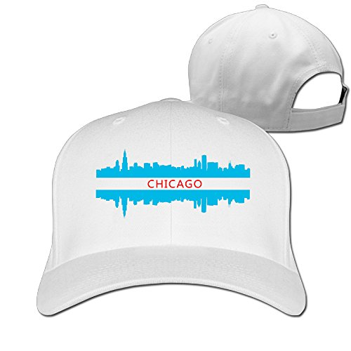 Chicago City Skyline Design Unisex Golf Peakedpeak Baseball Caps Hats