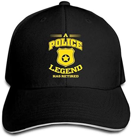 Eine Polizeielegende hat Sich verstellbar Sandwich Cap Baseball Cap Casquette Hut zurückgezogen