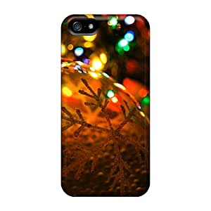 Protective Tpu Case With Fashion Design For Iphone 5/5s (christmas Lights)