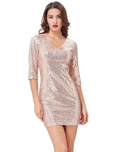 3/4 sleeve club dresses - 3