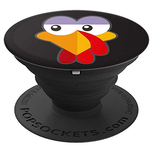 Turkey Face Crazy Eyes Costume Halloween and Thanksgiving - PopSockets Grip and Stand for Phones and Tablets