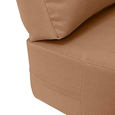 PROLINEMAX Knife Edge Small 23x24x6 Deep Seat + Back Slip Cover Only Outdoor Polyester AD104 : Garden & Outdoor