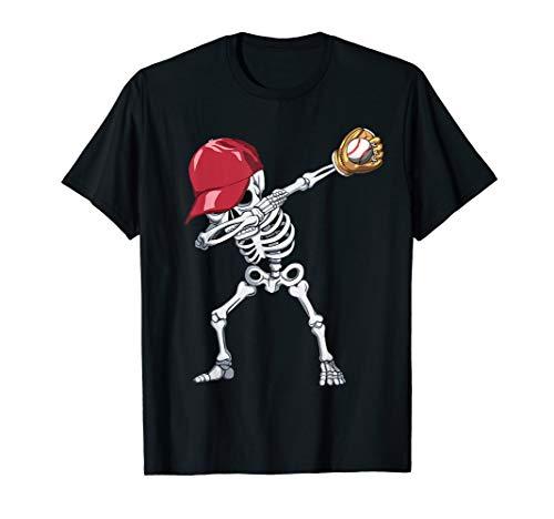 Baseball Girl Halloween (Halloween Boys Mens Baseball Apparel, Kids Dabbing Skeleton)