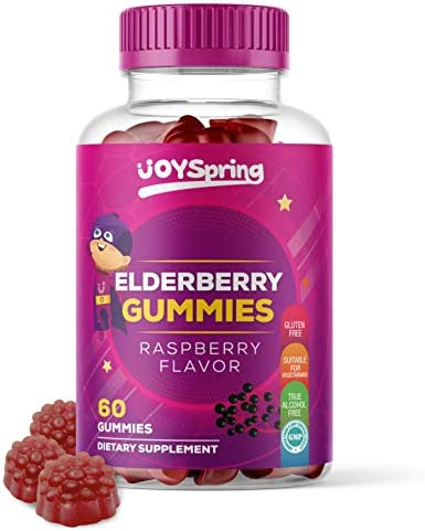 Sambucus Elderberry Gummies for Kids – Vitamin C Immune System Booster – Tasty Triple Action Gummy Bears with Zinc – Mom Made Toddler Approved Kids Cold Sickness Relief for Happier Winters
