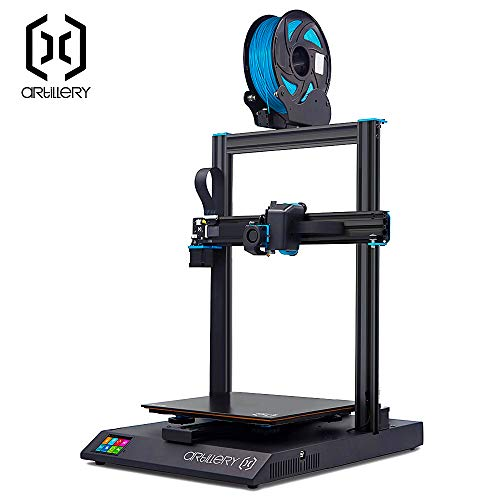 Artillery Sidewinder X1 3D Printer 2019 Newest 95% Pre-Assembled 300x300x400 Model with Dual Z Axis Ultra-Quiet Printing 0.6mm Direct Drive Extruder Filament Runout Detection and Recovery (Silver) (Best Dual Extruder 3d Printer 2019)