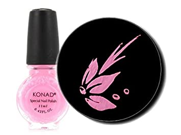 Amazon Konad Nail Art Stamping Polish 11ml Pastel Pink