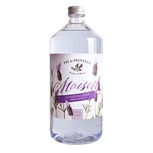 Pre De Provence Maison French Lavender Blossom Linen Water Refill Bottle for Ironing or Fragrance ()