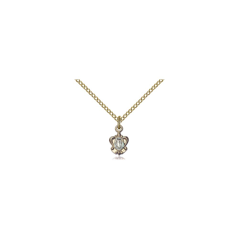DiamondJewelryNY 14kt Gold Filled Miraculous Pendant