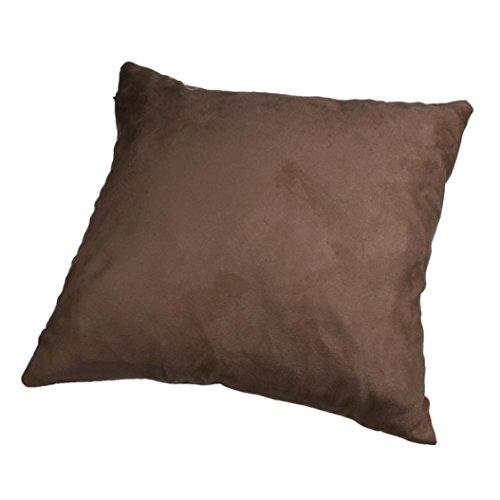 (Sothread Fashion Solid Color Throw Pillow Cover Suede Sofa Decor Cushion Cover 45x45cm (B))