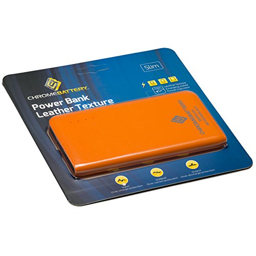 UPC 638827803025, Chrome Pro Battery Orange Portable Power Bank - 8000mAh