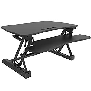 Standing Desk, TOUCHXEL Height Adjustable Desk Stand-Up Sit Workstation with Removable Keyboard Tray - Black