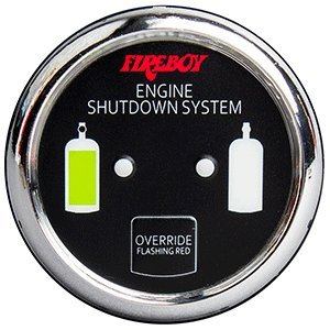 Fireboy-Xintex Xintex Deluxe Helm Display w/Gauge Body, LED & Color Graphics f/Engine Shutdown System - Chrome Bezel Display