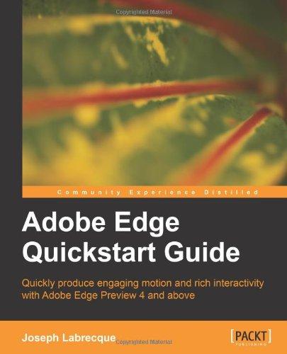 Adobe Edge Quickstart Guide Front Cover