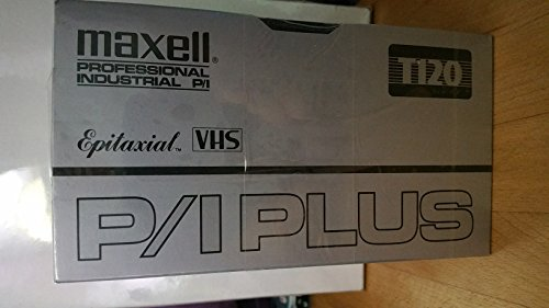 MAXELL PROFESSIONAL INDUSTRIAL P/I PLUS, T-120, EPITAXIAL VHS, [5-PACK]