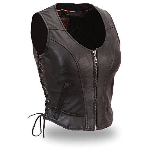 (First Manufacturing Women's Clean Side-Laced Vest (Black, XXX-Large) )