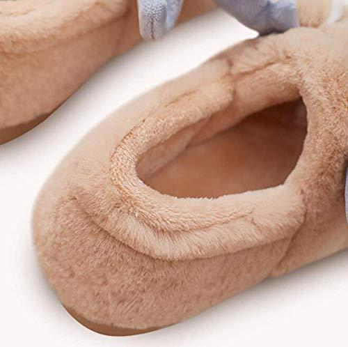 Marrón Y Zapatillas 35 Lindos color Dibujos Hogar El Rosado Felpa Suaves Tamaño Zapatos De Cálidas Para Rojo Algodón Rellenos Animados 36 44 Fuweiencore Invierno 43 naqCFxwYF