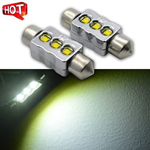 12v Ac Festoon Lamp - Ruiandsion 2pcs Canbus 36mm Festoon LED Bulbs AC 12V 15W CREE XBD 3SMD Chipsets 6000K White Bulbs for Auto Interior Dome Map Light Lamp Bulbs