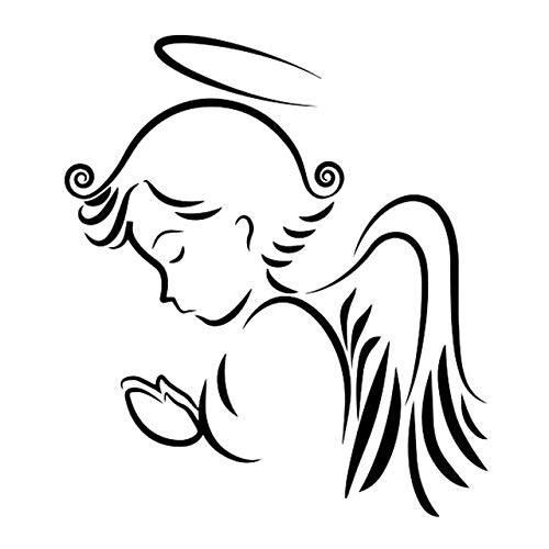 Scrapbooking Stickers & Sticker Machines, Vinyl Decal Sticker, 1PC 14cmx16cm Angel Wings Room Car Sticker Car Accessories Vinyl Decal Car Decal Stickers - Black