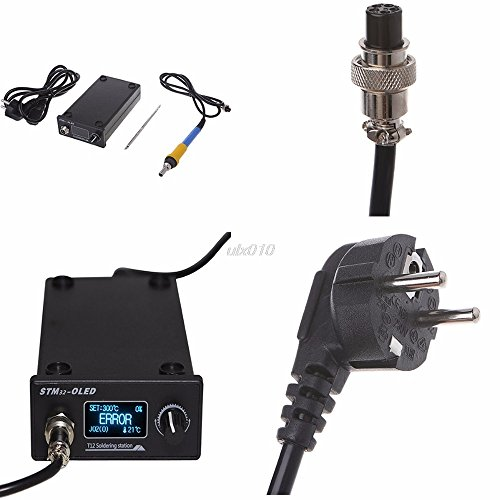 NJPOWER EU Plug T12 Soldering Iron station STM32 OLED Solder Tools electronic Welding Drop Ship