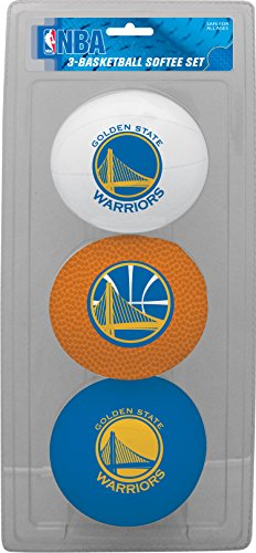 fan products of NBA Golden State Warriors Kids Softee Basketballs (Set of 3), Size 3, Blue