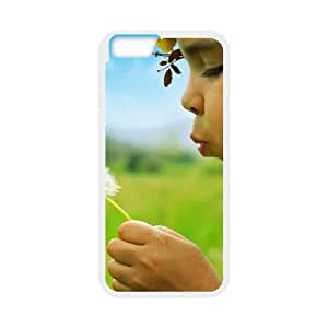 Girl Dandelion iPhone 6 4.7 Inch Cell Phone Case White kwi