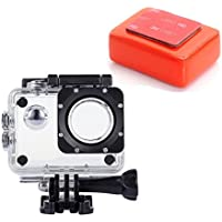VVHOOY Waterproof Case Housing with Float Sponge for AKASO EK5000 EK7000 4K/APEMAN/NEXGADGET/Victure/SJ4000 Underwater Sport Action Camera