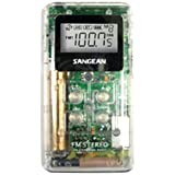 SANGEAN DT-120 CLEAR Pocket AM/FM Digital Radios (Clear) electronic consumer