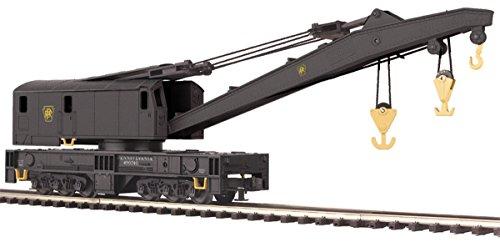 MTH 20-98298 O scale PRR Crane Car PENNSYLVANIA Rd# 490744 MOW work train 3 rail (Scale Mow)