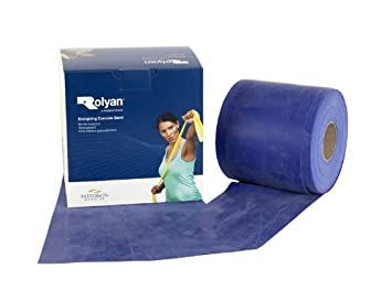 Rolyan Energising Latex Free 50m Elastic Fitness Gym Exercise Bands