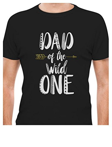 Tstars - Dad of The Wild One Funny 1st Birthday T-Shirt X-Large Black