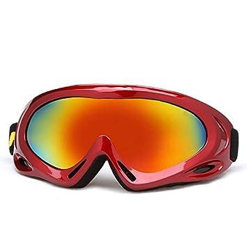 Adulte Snow Lunettes de ski coloré objectif Motocross anti-buée Mode protection des yeux Lunettes de sport, Homme, bleu