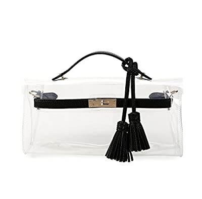 Lam Gallery Women's Clear Purses for Work Transparent Clutch Handbags NFL Approved Bags