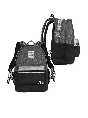 Victorias Secret Pink Campus Backpack Pure Black/ Dark Grey