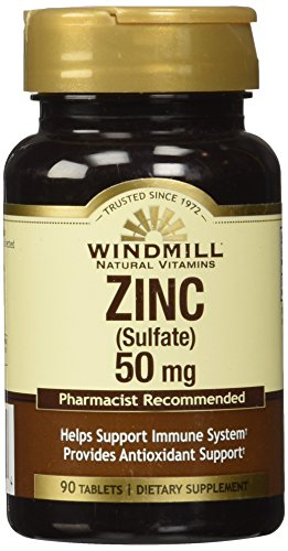 Sulfate 90 Tablets - Windmill Zinc Sulfate Tablets, 90 Count