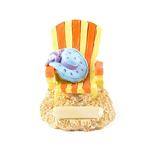 Bargain World Resin Beach Chair Figurines (With Sticky Notes)