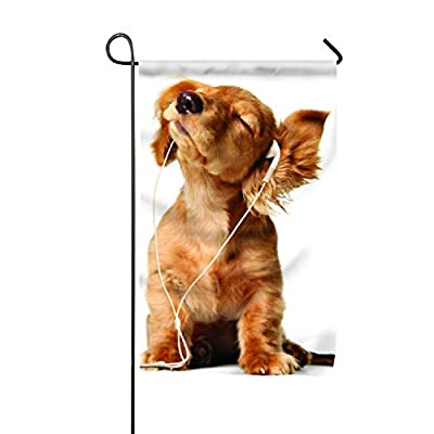 HEHESELL Welcome Dogs Polyester Garden Flag Banner for Outdoor Home Garden Flower Pot Decor