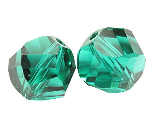 24 8mm Adabele Austrian Helix Crystal Beads Emerald Green Compatible with Swarovski Preciosa Crystals 5020 SSH-824