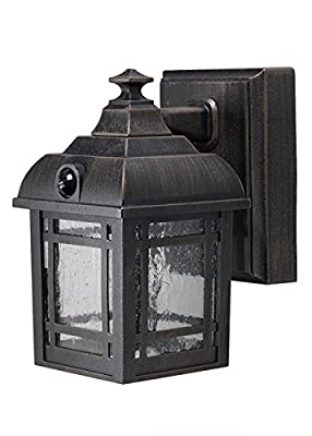 LIGHT IT by Fulcrum 32001-107 3 LED Wireless Motion Sensor Weatherproof Metal Craftsman Style Porch Light