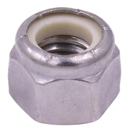 1/2-13 Nylon Insert Hex Lock Nut, NE, Stainless Steel 18-8 SS Nylock - U-Turn (10 Pack) ()