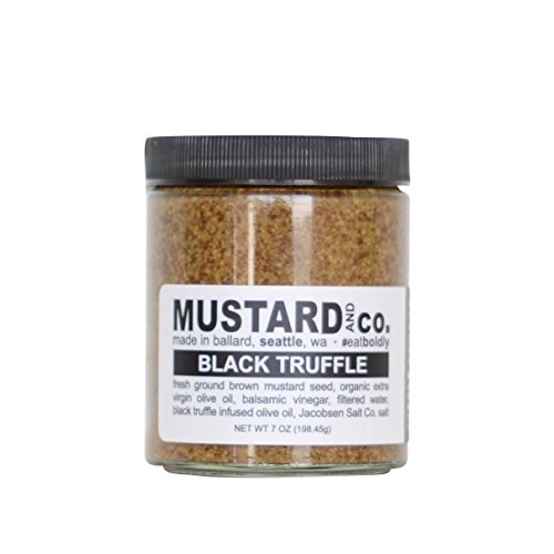 Mustard Gourmet - Mustard and Co. - Black Truffle Gourmet Mustard - 7oz Jar