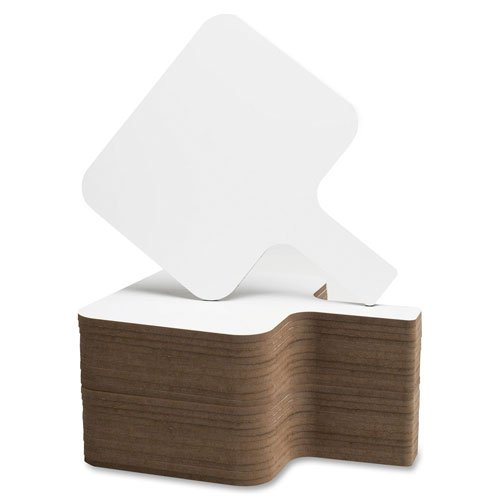 Flipside Products Rectangular Dry Erase Answer Paddles - Set of 24, White (10040)