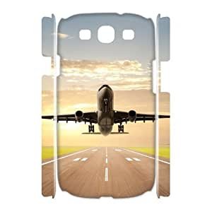 Airplane Takeoff High Qulity Customized 3D Cell Phone Case for Samsung Galaxy S3 I9300, Airplane Takeoff Galaxy S3 I9300 3D Cover Case