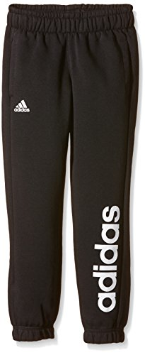 adidas Jungen Hose Essentials Linear Brushed, Black/White, 176, S23209