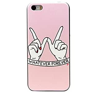 SOL ships in 48 hours Special Pink Fingers Pattern PC Hard Case for iPhone 5C