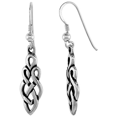 Sterling Silver Celtic Earrings Braided